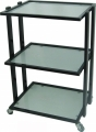 Trolley 3 Tier - Frosted Glass Shelves