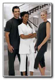 Marica products hair beauty salon supplies uniforms for Spa uniform south africa